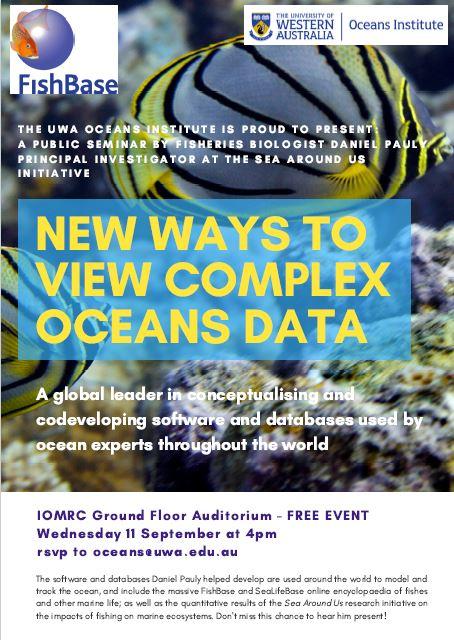 Daniel Pauly talks oceans data at UWA